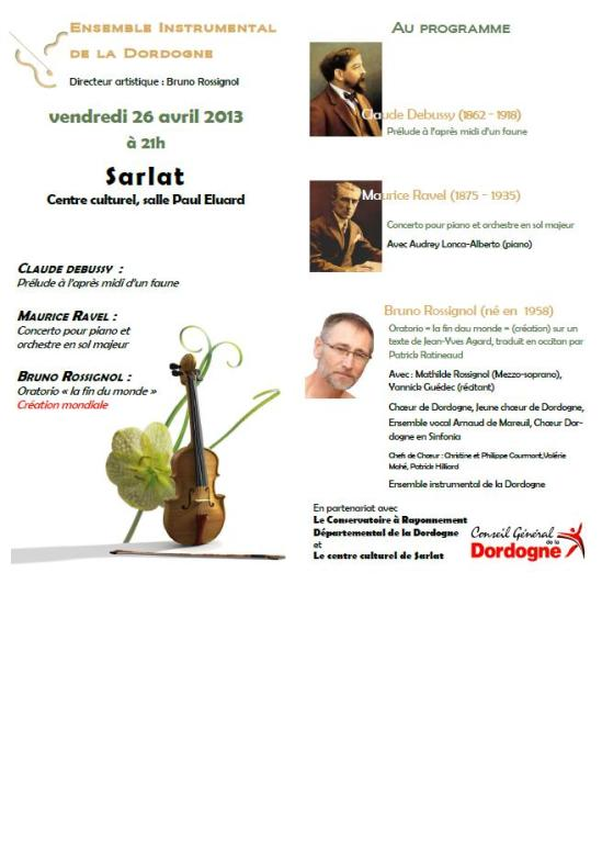 Concert 26 avril sarlat